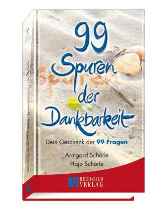 """Buchcover """"99 Spuren der Dankbarkeit"""""""
